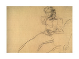Woman Sitting in an Armchair Giclee Print by Gustav Klimt
