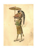 Zebra 1873 'Missing Links' Parade Costume Design Giclee Print by Charles Briton