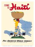 E. Lafond - Come to Haiti - Pan American World Airways - Reprodüksiyon