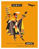 Hawaii - Qantas Airways - Royal Hawaiian Ali'i Giclée-tryk