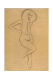 Standing Female Nude with Raised Right Leg Giclee Print by Gustav Klimt