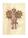Sea Dragon 1873 'Missing Links' Parade Costume Design Giclee Print by Charles Briton