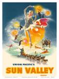 Sun Valley Idaho - Union Pacific Railroad Prints by C. Peet