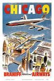 Chicago - Braniff International Airways Planscher