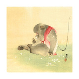 Monkey and Bee Giclee Print by Koson Ohara