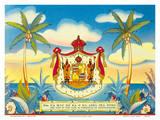 Hawaiian Coat of Arms - Motto - Ua Mau Ke Ea Ka Aina Ika Pono Posters