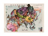 Satirical Map - The Illustration of the Great European War Giclee Print by Tanaka Ryozo