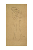 Woman with Hands Folded Giclee Print by Gustav Klimt