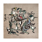 Snake Extermination of by Frog Giclee Print by Kyosai Kawanabe