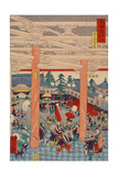 Old Picture of the Rashomon Gate from the Series Scenes of Famous Places Giclee Print by Kyosai Kawanabe