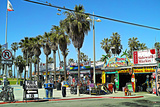 Palm Trees and Blue Sky Venice Beach Photographic Print by Steve Ash