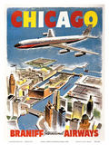 Chicago - Braniff International Airways Affischer