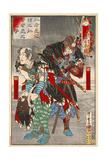 Oishi Sezaemon Nobukiyo and Terasaka Kichiemon Nobuyuki Giclee Print by Kyosai Kawanabe
