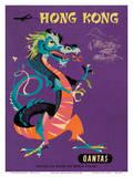 Hong Kong - Qantas Airways - Chinese Treasure Dragon Kunstdrucke von Harry Rogers