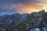 Mount Huangshan Sunrise Photographic Print by Yan Zhang