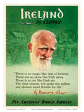 Ireland by Clipper - Pan American World Airways - George Bernard Shaw Prints