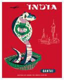 India - Qantas Airways - Indian Cobra (Naja Naja) Giclée-tryk af Harry Rogers