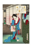 No. 13, Akashi, from the Series the Fifty-Four Chapters Giclee Print by Kunichika toyohara