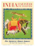 India and Pakistan by Clipper - Pan American World Airways Art
