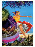 Caribbean - Native Drummer and Dancer - British Overseas Airways Corporation, BOAC Affiches