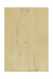 Woman Standing Facing Slightly Left Giclee Print by Gustav Klimt