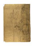 Transfer Sketch for Medicine Giclee Print by Gustav Klimt