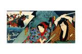 Actors Nakamura Shikan and Sawamura Tanosuke Giclee Print by Kunichika toyohara