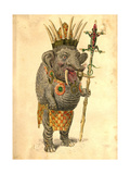 African Elephant 1873 'Missing Links' Parade Costume Design Giclee Print by Charles Briton