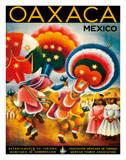Oaxaca, Mexico - Costumed Native Dancers Giclée-Druck von Miguel Covarrubias
