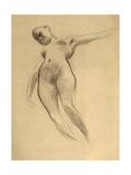 Floating Female Figure Giclee Print by Gustav Klimt