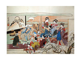 Party at Yoshiwara Giclee Print by Kyosai Kawanabe