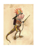 Salamander 1873 'Missing Links' Parade Costume Design Giclee Print by Charles Briton