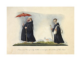 A Franciscan Friar and a Lay Brother, as Seen before the Abolition of their Order Giclee Print