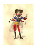 Fly 1873 'Missing Links' Parade Costume Design Giclee Print by Charles Briton