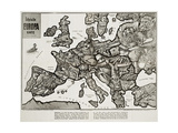 Satirical Map - Europe in the World War 1914 Giclee Print by E. Zimmerman