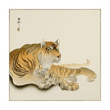 Reclining Tiger Giclee Print by Koson Ohara
