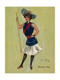 Rowing Girl Giclee Print by Hamilton King