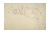 Reclining Nude 2 Giclee Print by Gustav Klimt