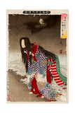 Kiyohime Change into River Snake, Thirty-Six Transformations Giclee Print by Yoshitoshi Tsukioka