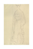 Woman Standing with Head Turned Slightly Left Giclee Print by Gustav Klimt