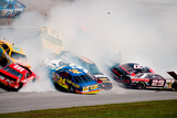 NASCAR Crash 1993 Daytona 500 Archival Photo Poster Photo