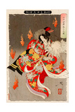 Will-Of-The Wisp Flames from 24 Paragons of Filial Piety, Thirty-Six Transformations Giclee Print by Yoshitoshi Tsukioka