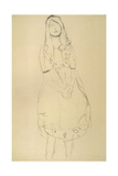 Girl Standing with Hands Clasped Giclee Print by Gustav Klimt