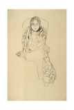 Sitting Woman with Chin Cropped Giclee Print by Gustav Klimt