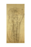 Transfer Sketch for the Three Ages of Woman Giclee Print by Gustav Klimt