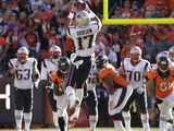 NFL Playoffs 2014: Jan 19, 2014 - Broncos vs Patriots - Aaron Dobson Photographic Print by Charlie Riedel