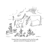 """I admit that I was skeptical at first, but I'm really glad you insisted o…"" - New Yorker Cartoon Premium Giclee Print by Michael Maslin"