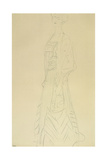 Standing Woman with Wrap Giclee Print by Gustav Klimt