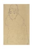 Portrait of a Lady Wearing Fur Giclee Print by Gustav Klimt