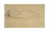 Reclining Woman, Seen from Behind Giclée-Druck von Gustav Klimt